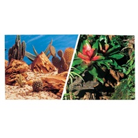 "Marina Double Sided Aquarium Background - Bromeliad/Terrarium Scenes - 30.5 cm x 7.6 m (12"" x 25 ft)"