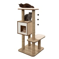Catit Vesper High Base - Oak - 56 x 56 x 121.5 cm (22 x 22 x 48.8 in)