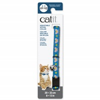 Catit Adjustable Breakaway Nylon Collar - Blue with Pink Bows - 20-33 cm (8-13 in)