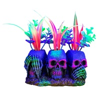 Marina iGlo Ornament - 3 Skulls with Plants - Small - 14 cm (5.5 in)