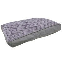 "Dogit Style Rectangular Mattress Dog Bed-Wild Animal, Grey, Small. 80cm x 55cm x 11.5cm (31.5"" x 21.5"" x 4.5"")."