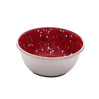 Dogit Stainless Steel Non-Skid Dog Bowl - Red Speckle - 500 ml (17 fl.oz.)