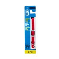 """Catit Buckle Nylon Cat Collar - Red - 9.5 mm (3/8"""") x 20 cm-33 cm (8-13"""")"""