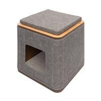 Catit Vesper Cubo - Stone - 42.5 x 42.5 x 47.5 cm (17 x 17 x 19 in)