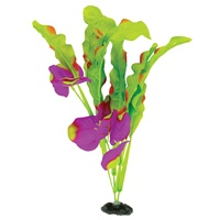 "Marina Naturals Indigo & Green Waffle Leaf Silk Plant - Large - 33 - 35.5 cm (13-14"")"