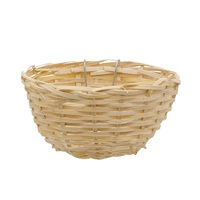 "Living World Bamboo Bird Nest for Canaries - 11 cm x 5.5 cm (4.3"" x 2.2"" in)"