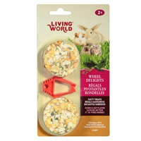 Living World Wheel Delights - Herb/Hay - 2 pack