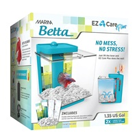 Marina Betta EZ Care Plus Aquarium Kit - Blue - 5 L (1.35 US gal)