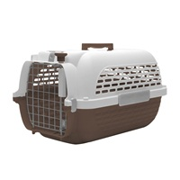 Dogit Voyageur Dog Carrier - Brown/White - Large - 61.9 cm L x 42.6 cm W x 36.9 cm H (24.3 in x 16.7 in x 14.5 in)
