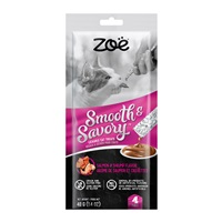 Zoë Smooth & Savory Lickable Cat Treats – Shrimp & Salmon - 4 pack
