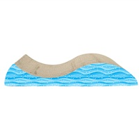 Cat Love Scratcher Wave with Catnip - 49 x 21 x 8.5 cm (19.2 x 8.2 x 3.3 in)