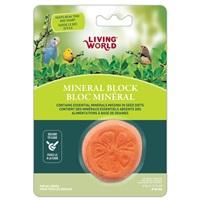 Living World Orange-Shaped Mineral Block for Birds - 41 g (1.5 oz)