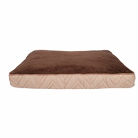 Dogit DreamWell Dog Mattress Bed - Rectangular - Beige/Brown - 73 x 51 x 7.6 cm (29 x 20 x 3 in)