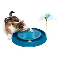 Catit Play 3 in 1 Circuit Ball Toy with Massager