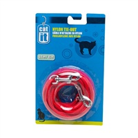 Catit Nylon Cat Tie-out - 3 m (10 ft) - Red
