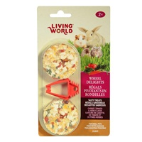 Living World Wheel Delights - Carrot/Tomato/Herb - 2 pack