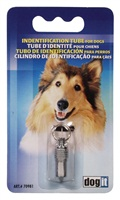 Dogit Chrome Dog Identification Tube