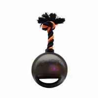 Zeus Bomber Bomb Black Tug Ball with Flashing LED - 12.7 cm (5 in)