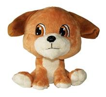 "Dogit Luvz Big Heads Plush Dog Toy - Brown Dog - 15 cm (6"")"