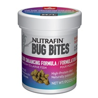 Nutrafin Bug Bites Colour Enhancing Formula – Small to Medium Fish – 1.4-2.0 mm granules - 45 g (1.6 oz)