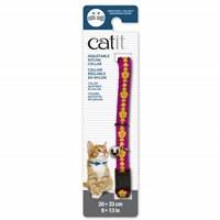 Catit Adjustable Breakaway Nylon Collar - Pink with Flowers - 20-33 cm (8-13 in)