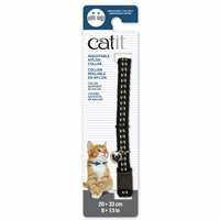 Catit Adjustable Breakaway Nylon Collar - Reflective Black - 20-33 cm (8-13 in)