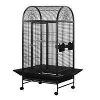HARI Dome Top Parrot Cage - Silver Antique Black - 71 L x 56.5 W x 158 H cm (28 in x 22 in x 62 in)
