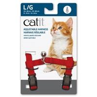 Catit Adjustable Nylon Harness - Red - Large