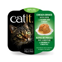 Catit Chicken Dinner with Salmon & Carrots - 80 g (2.8 oz)