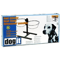 Dogit Adjustable Dog Bowl Stand - Extra Large - Fits 2 x  4L (135 oz) dog bowls
