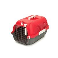 Catit Cat Carrier - Small - Cherry Red - 48.3 L x 32.6 W x 28 H cm (19 x 12.8 x 11 in)