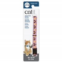 Catit Adjustable Breakaway Nylon Collar - Pink with Purple Bows - 20-33 cm (8-13 in)