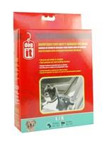 Dogit Adjustable Nylon Dog Car Safety Harness - Black - Large
