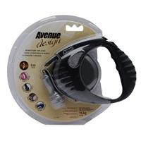 Avenue Dog Retractable Tape Leash - Black - Small - 4 m (13 ft)