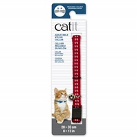 Catit Adjustable Breakaway Nylon Collar - Reflective Red - 20-33 cm (8-13 in)