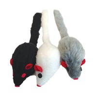 Cat Love Furry Frolics Cat Toy - Furry Catnip Mice - 3 pieces