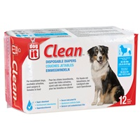 Dogit Diapers - Large - 35-55 lbs and waist 18-22.5 in - 12 pack