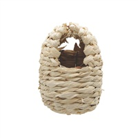"Living World Maize Peel Bird Nest for Finches - Small - 8 cm x 10 cm x 12 cm (3.1"" x 3.9'' x 4.7"" in)"