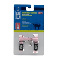 Catit Adjustable Nylon Cat Harness - Pink - Small