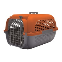 Dogit Voyageur Dog Carrier - Orange/Charcoal - Medium - 56.5 cm L x 37.6 cm W x 30.8 cm H (22 in x 14.8 in x 12 in)