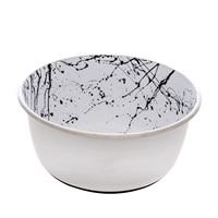 Dogit Stainless Steel Non-Skid Dog Bowl - Black & White Splash - 950 ml (32 fl.oz.)