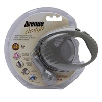 Avenue Dog Retractable Tape Leash - Warm Gray - Extra Small - 3 m (10 ft)