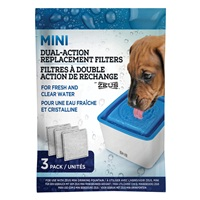 Zeus Mini Fountain Dual-Action Replacement Filters - 3 pack