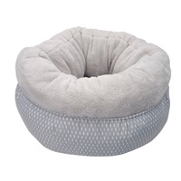 Dogit DreamWell Snuggle Bed - Gray - 45 cm dia. (18 in)