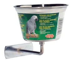 Living World Stainless Steel Parrot Cup - Medium - 480 ml (16 oz)