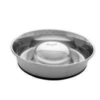 Dogit Stainless Steel Non-Skid Slow Feed Dog Bowl - 900 ml (30.5 fl.oz.)