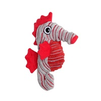 Dogit Stuffies Dog Toy - Corduroy Plush Gray Seahorse - 28 cm (11 in)