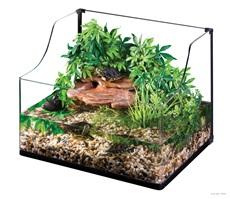 Exo Terra Turtle Terrarium Aquatic Habitat - Medium - 60 x 45 x 30/45 cm (24 x 18 x 12/18)