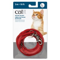Catit Nylon Tie-out - Red - 3 m (10 ft)