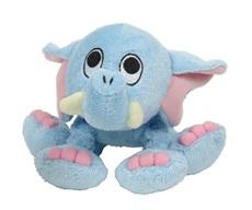 "Dogit ""Puppy Luvz"" Plush Dog Toy with Squeaker - Blue Elephant - 22 cm (9"")"